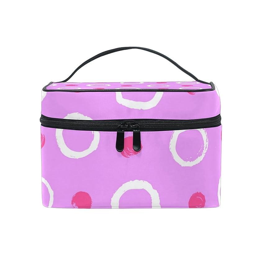 アパルロックどれALAZA 化粧ポーチ ドット柄 水玉模様 化粧 メイクボックス 収納用品 ピンク 大きめ かわいい