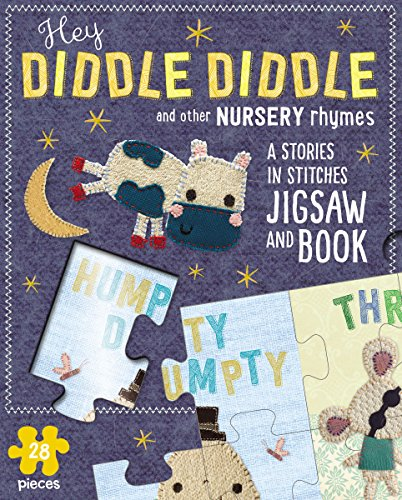 Jigsaw Puzzle Slipcase: Hey Diddle Diddle and Other Nursery Rhymes: A Stories-In-Stitches Jigsaw and Book