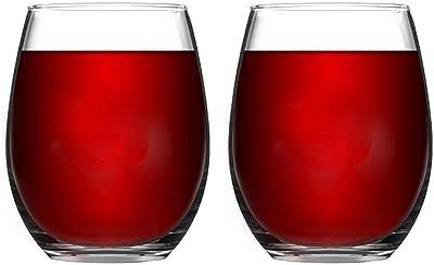 Wedding Glasses Set Of 2 Stemware With Long Crystal Diamond Stemless Wine Glasses Valentine's Day Birthday Anniversary (Color : Stemless)