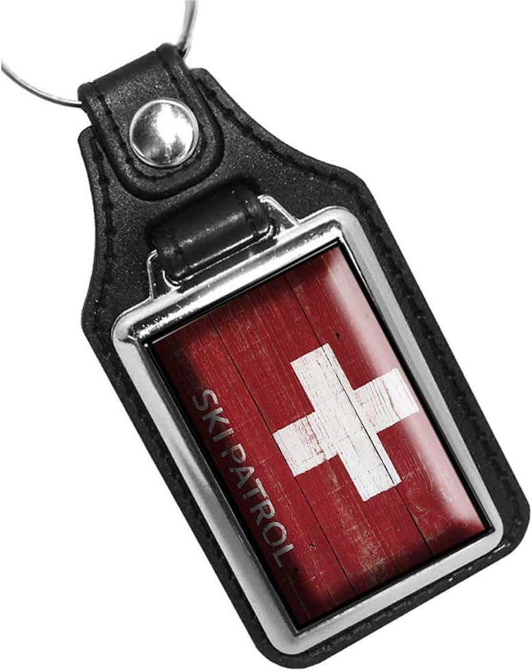 Brotherhood Vintage Ski Patrol Sign Design Keychain Key Holder Key Ring for Men Heavy Duty Car Keyring for Men and Women