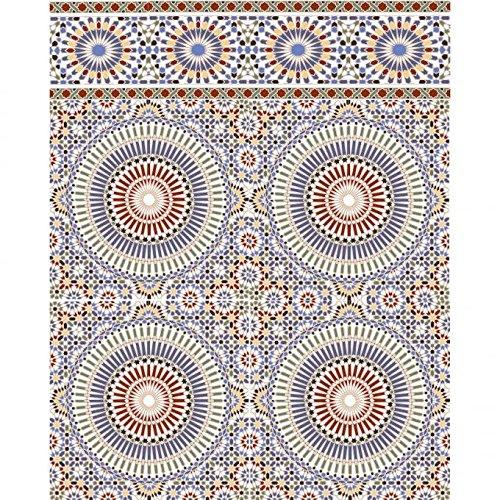 Casa Moro Marokkanische Wand-Fliesen Tanger 20x20 cm bunt mit Mosaik-Muster | Orientalische Wandfliesen für Küche Badezimmer Flur Küchenrückwand (1 Quadratmeter) | FL16011