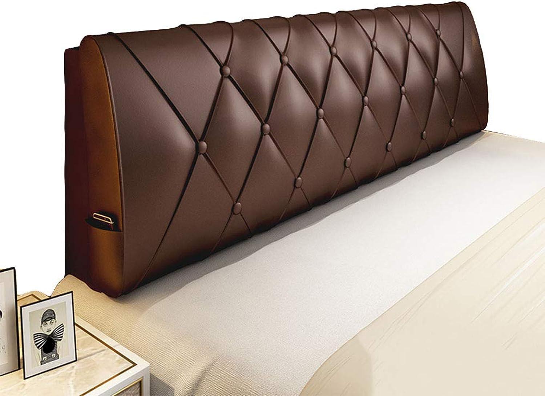 HAIPENG Coussin De Chevet Doux Dossier pour Tête De Lit Grand Oreiller Canapé Tapissé Lombaire Pads, 4 Couleurs, 7 Tailles (Couleur   marron, Taille   90x10x60cm)