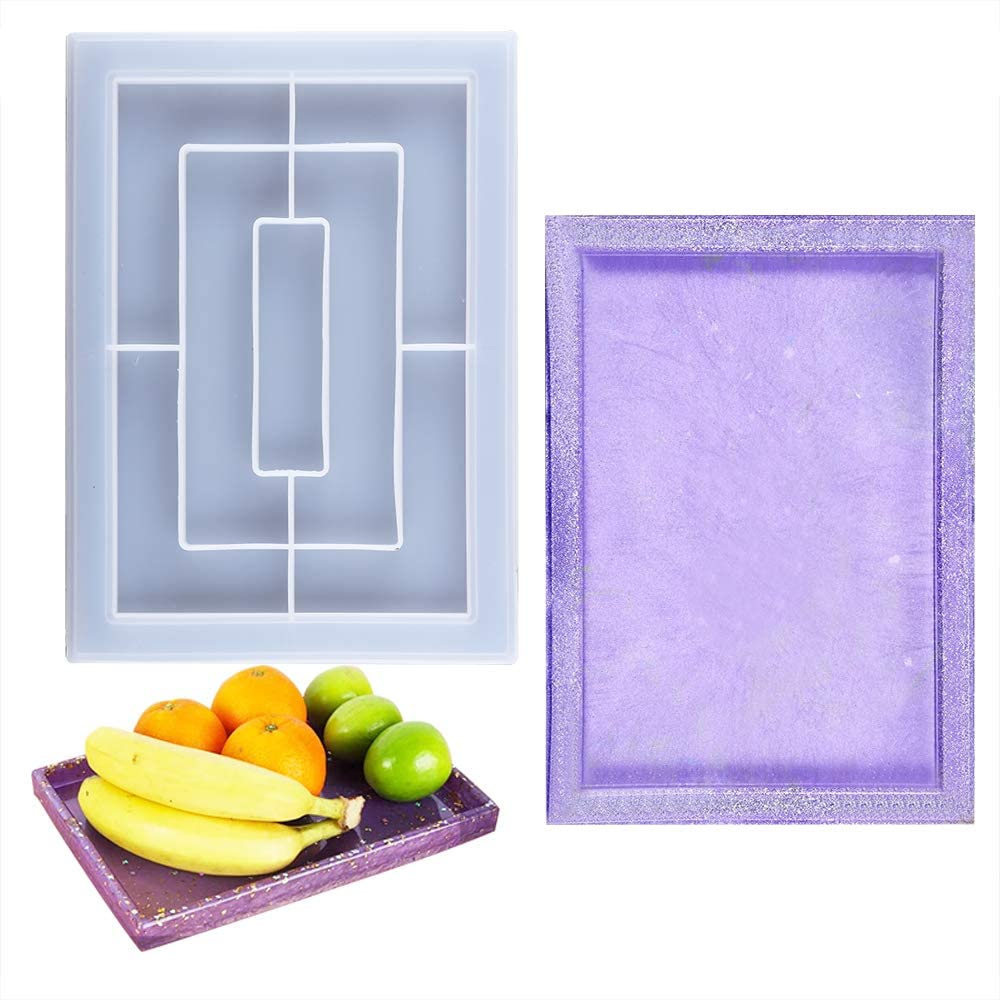 Large Rectangle Rolling 1 year warranty Tray Resin Tubala Charlotte Mall Serving Mold Tr