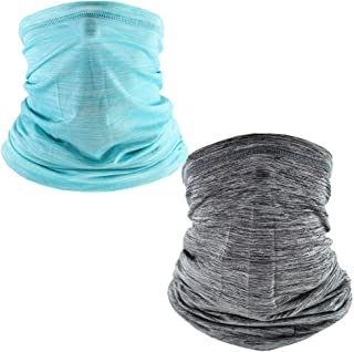 Men Women Seamless Face Mask Bandanas Neck Gaiters Scarf Cover,Dust & UV Sun-Protection for Outdoors Sports Fishing
