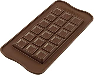 Unbekannt Silikomart 195931Chocolate Forma Tablette Choco Bar Chocolate Forma, Silicona, marrón, 11,6x 7,8x 10cm
