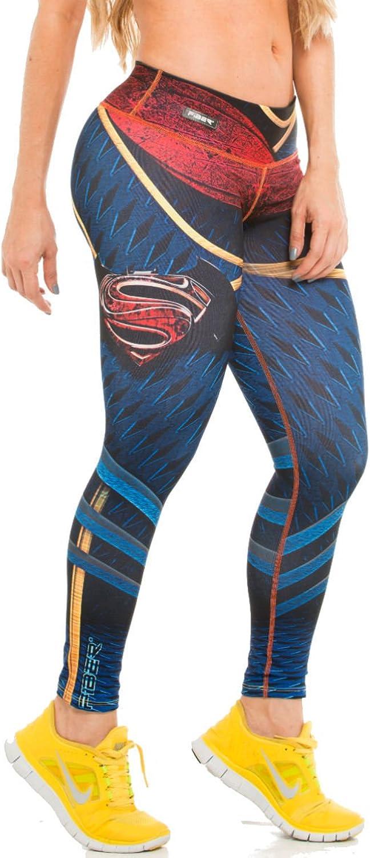 Fiber Leggings Superhero Yoga Pants Women's Compression Tights