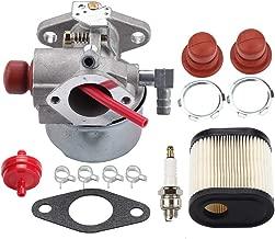 Venseri 640271 640303 640350 Carburetor for Tecumseh LEV100 LEV105 LEV120 LV195EA LV195XA Toro 20016 20017 20018 6.75HP Recycler Lawn Mower Lawn with Air Filter