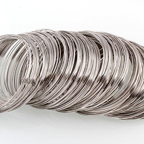 Perlin Armbänder Schmuckteile 50 Ringe Stahl Memory Wire Spiraldraht 6cm AZM290D
