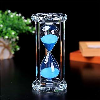 Batreetek 砂時計 サンドタイマー 時計 ガラス 砂タイマー ゲーム 料理 運動 お風呂 インテリア飾り物 プレゼント贈り物 15分計 (青)