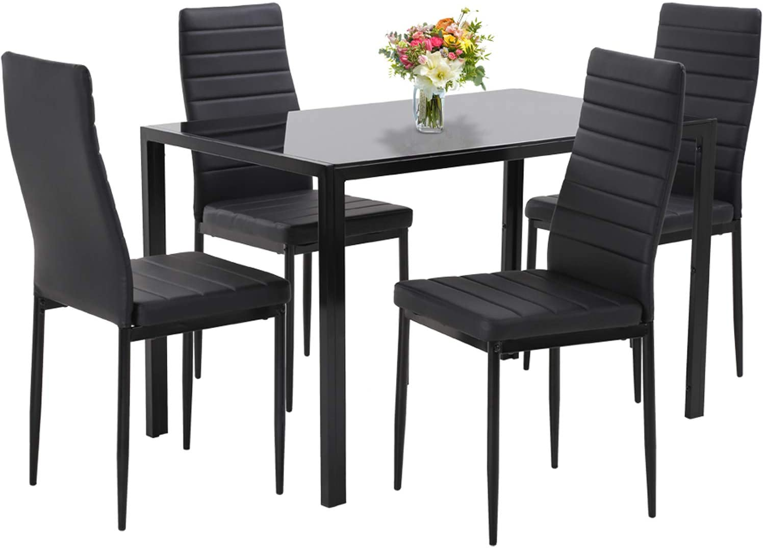 Best for durability: Dining Room Table Set 5-Piece Faux
