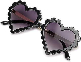 نظارات شمسية على شكل قلب للأطفال الصغار من ميباسيس سن 3-10، حماية من الأشعة فوق البنفسجية 400