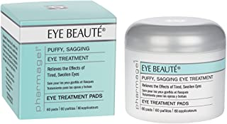 Pharmagel Complexe Eye Beaute Treatment Pads | Herbal Solution | Under Eye Bags and Puffy Eyes Treatment | Pads for Tired, Swollen, and Sagging Eyes - 60 Count