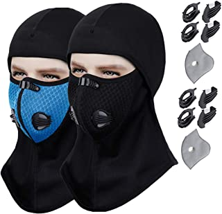 Balaclava – Activated Carbon Dust/Dustproof & Windproof Masks - Cold Weather Face Mask Extra Filter Cotton Sheet Valves Neck Warmer for Winter Motorcycle, Ski & Snowboard Gear, Exhaust Gas, PM2.5