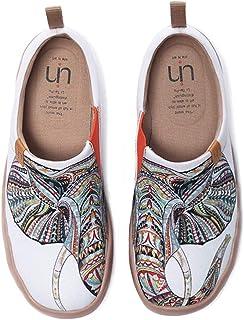 UIN Chaussures Femmes Confort Souple Toile Art Mocassins Mode Voyage Originales Chaussures de Décontractées Slip-on Chauss...