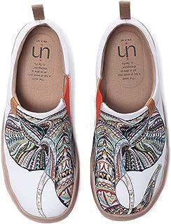 UIN Blossom Women's Men Fashion Tribe Art Sneaker Painted Canvas Slip-On Ladies Travel Shoes Unisex