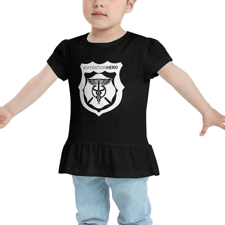 GLYLDFI Hero Defined Baby's Girls Cotton T-Shirt Tees Dresses