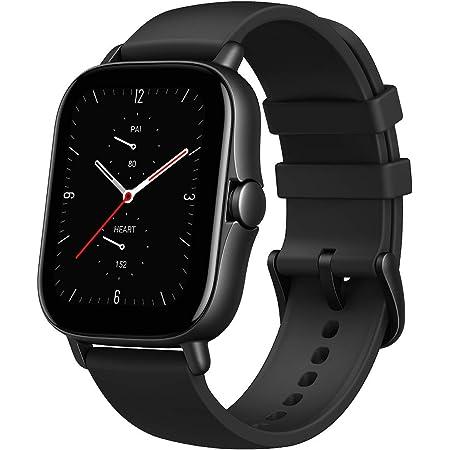 """Amazfit GTS 2e Smartwatch Orologio Intelligente AMOLED Da 1,65"""", 90 Modalità di Allenamento, 5 ATM Impermeabile, Durata della batteria di 14 giorni, Monitor del Sonno, Uomo, Donna (Nero)"""