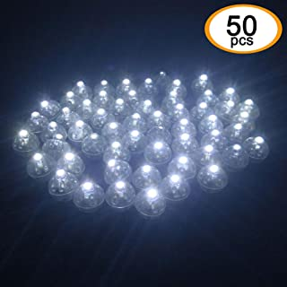 Accmor 50pcs LED Balloon Light, Mini Round Ball lights Long Standby Time Ball Lights for Paper Lantern Party Wedding Decoration(Cool White)
