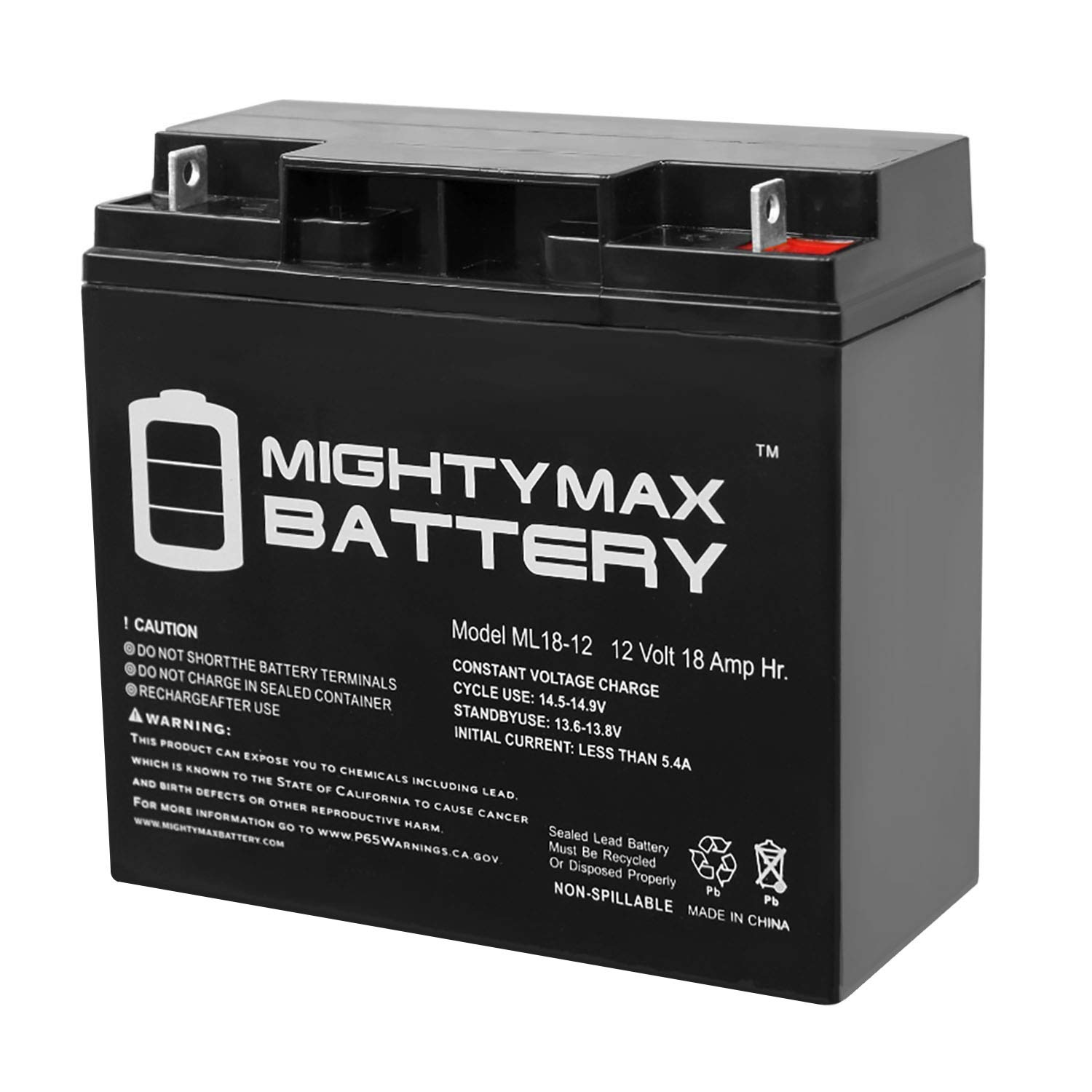Mighty Max Battery ML18 12 Rechargeable