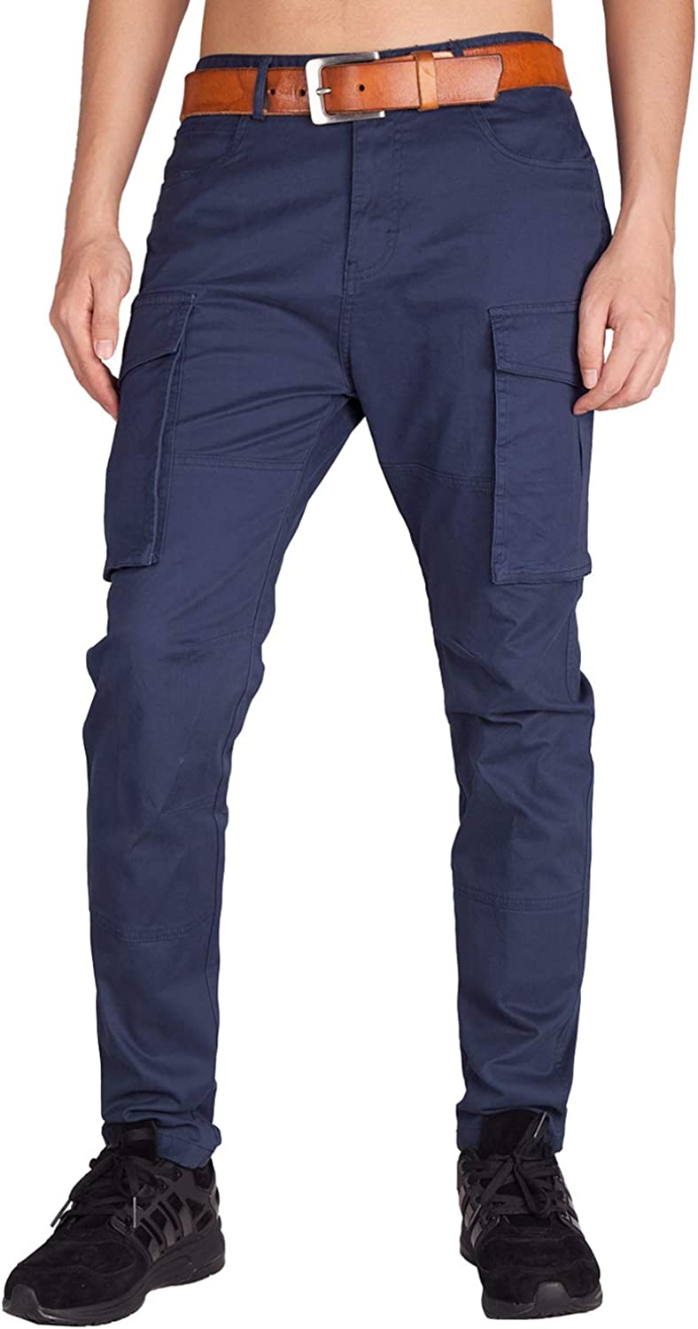ITALY MORN Men's Cargo Pants Survivor Casual Relaxed Fit Military Outdoor