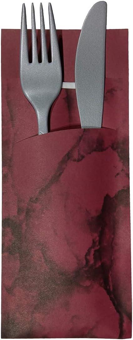 520 X Buste Portaposate Con Tovagliolo Carta Bordeaux 520 Stuck Amazon It Casa E Cucina