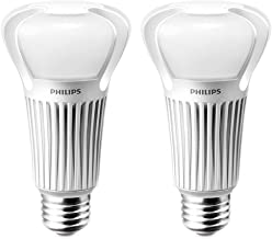 Philips 75 Watt Equivalent A21 LED Light Bulb Soft White, Dimmable (2 Bulbs)