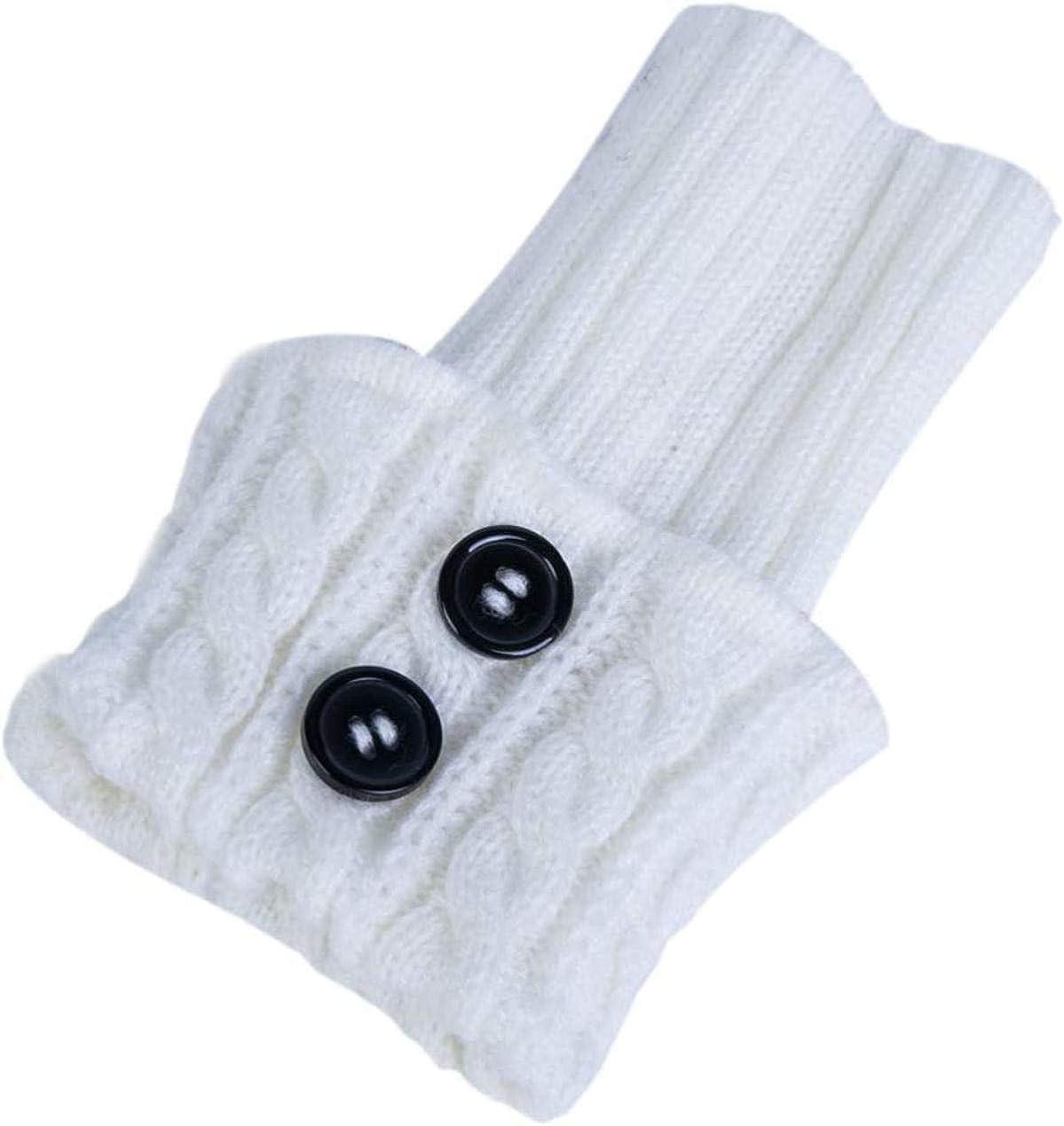 LLTT Women Crochet Knitted Boot Cuffs Socks, Winter Short Leg Warmers, Ankle & Knee Warmers, Knit Toppers Boot Socks