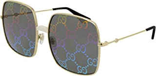 GG0414S Fashionable Oversize Square Metal Sunglasses 60mm