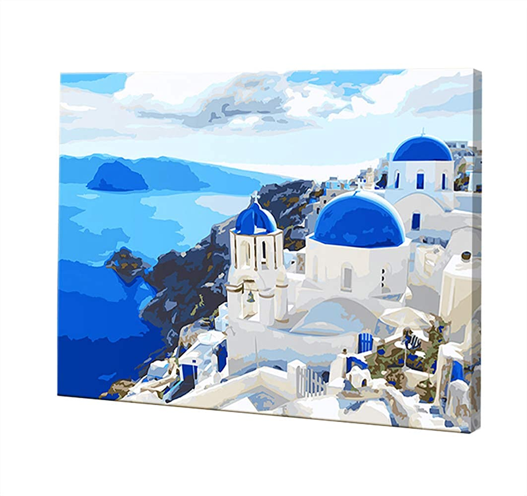 LOSTART Paint by Number for Adults Kit, DIY Oil Painting 16 by 20-Inch (Aegean Sea)