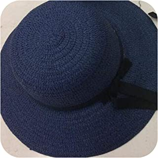 99072d42 Womens Fashion Summer Straw hat Sun hat Folding Travel Beach Cap with  Lovely Bow