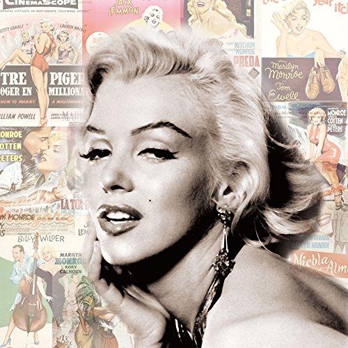 Marilyn Monroe–Biondo Platino–Plexi Art vetro acrilico Block immagine–Dimensione 33x 33cm