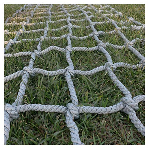 Cargo Netting ClimbingCargo Net Climbing Rope Netting Playground Kids Outdoor Climb Swing Mesh Safety Heavy Duty Netting Fence Child Rock Climbing Ladder Wallfor Kids Alduts Swingset14mmGray