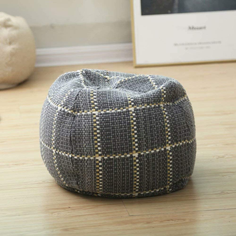 Boho Cotton Linen Pouf Cover Footstool Ottoman Bombing free shipping Directly managed store Woven Hand