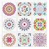 Acerich Mandala Stencil Large (12x12 Inch), Laser Mandala Dotting Tools Template Blossoming Flower Stencils for Painting, Walls Furniture Crafts, Set of 9 #1
