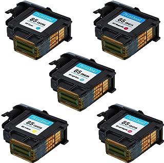 ASHATA Printhead for HP Designjet 30/90R/130 Series Replacement Ink Print Head for HP85 Print Head - C9420A C9421A C9422A C9423A C9424A(5PCS)
