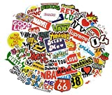 HH Vinyl Waterproof Stickers for Car, Laptop, Luggage, Skateboard, Motorcycle,Bicycle Decal and Hydroflask, Supreme, Thrasher & More - 50 pcs