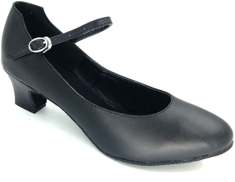 Misu Women's Flapper shoes Character shoes Latin Salsa Tango Practice Ballroom Dance shoes