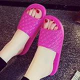 TTFF Hombres Zapatilla de Baño Zapatos,Pantuflas Antideslizantes de gelatina, Sandalias de Cristal Transparente de...