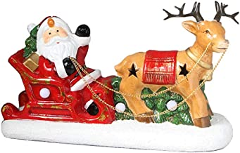 Christmas Desktop Clay Pot Old Deer Pull Car Light Decoration Counter Small Christmas Tree Decorations
