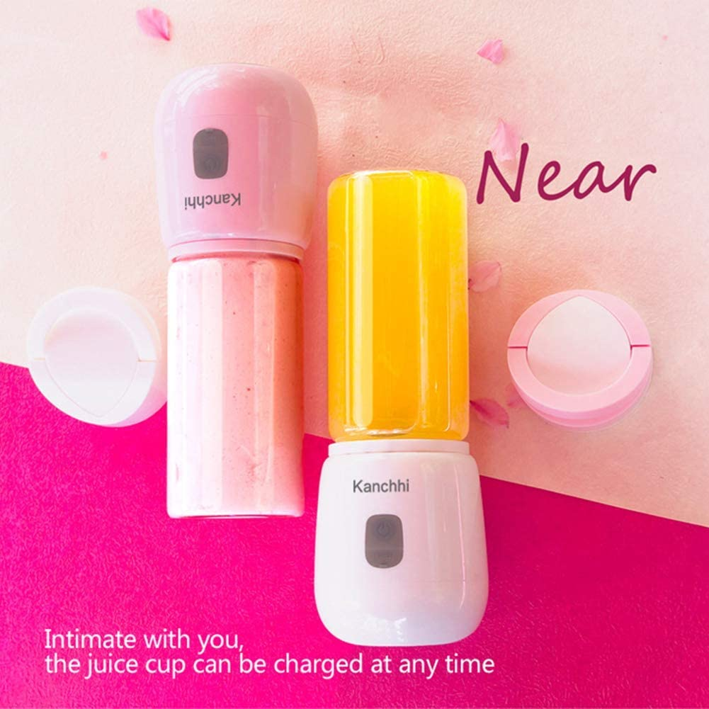 zyl Mini Tasse USB Rechargeable Fabricant de Smoothie mélangeur Personnel de 500 ML mélangeur de Fruits Mini mélangeur Portable pour Les jus de Fruits et Les Smoothies Pink
