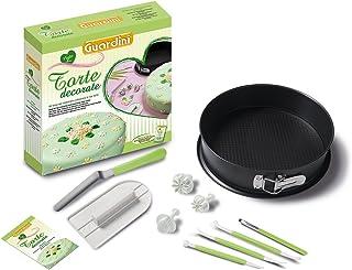 Guardini Coffret cadeau «Voglia di Torte decorate» 1 moule démontable 26 cm +1 lisseur à gâteaux +1 spatule +3 ustensiles...