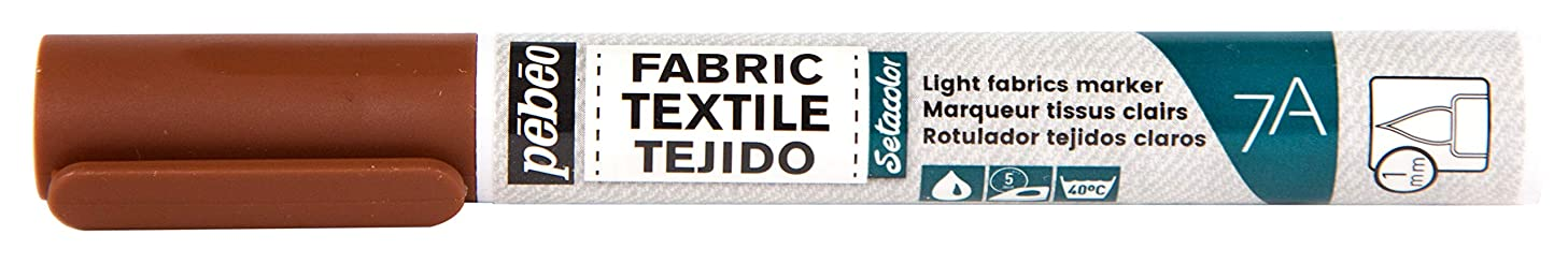 Pebeo 803412 7A Marter Fabric Marker, 1 mm, Brown