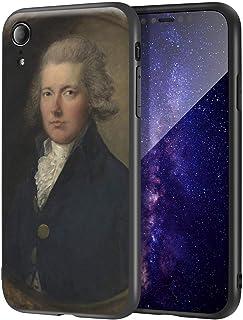 Thomas Gainsborough iPhone XR用ケース/ファインアート携帯電話ケース/高解像度ジクレーレベルUV複製プリント、携帯電話カバー(ウィリアム・ピット)