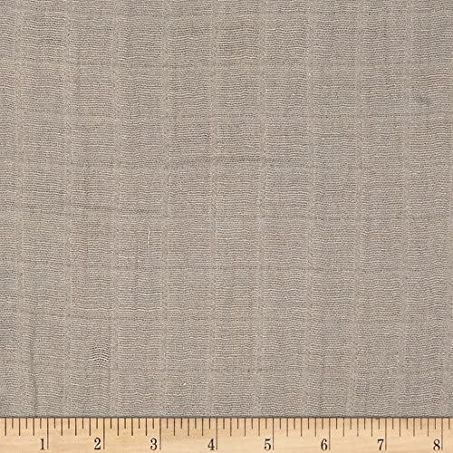 Shannon Embrace low-pricing Double Gauze Solid by Yard safety Fabric the Silver