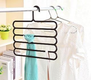 House of Quirk 5 Layers Multi-Purpose Magic Closet Hangers Space Saver Storage Plastic Hanger (4PC)