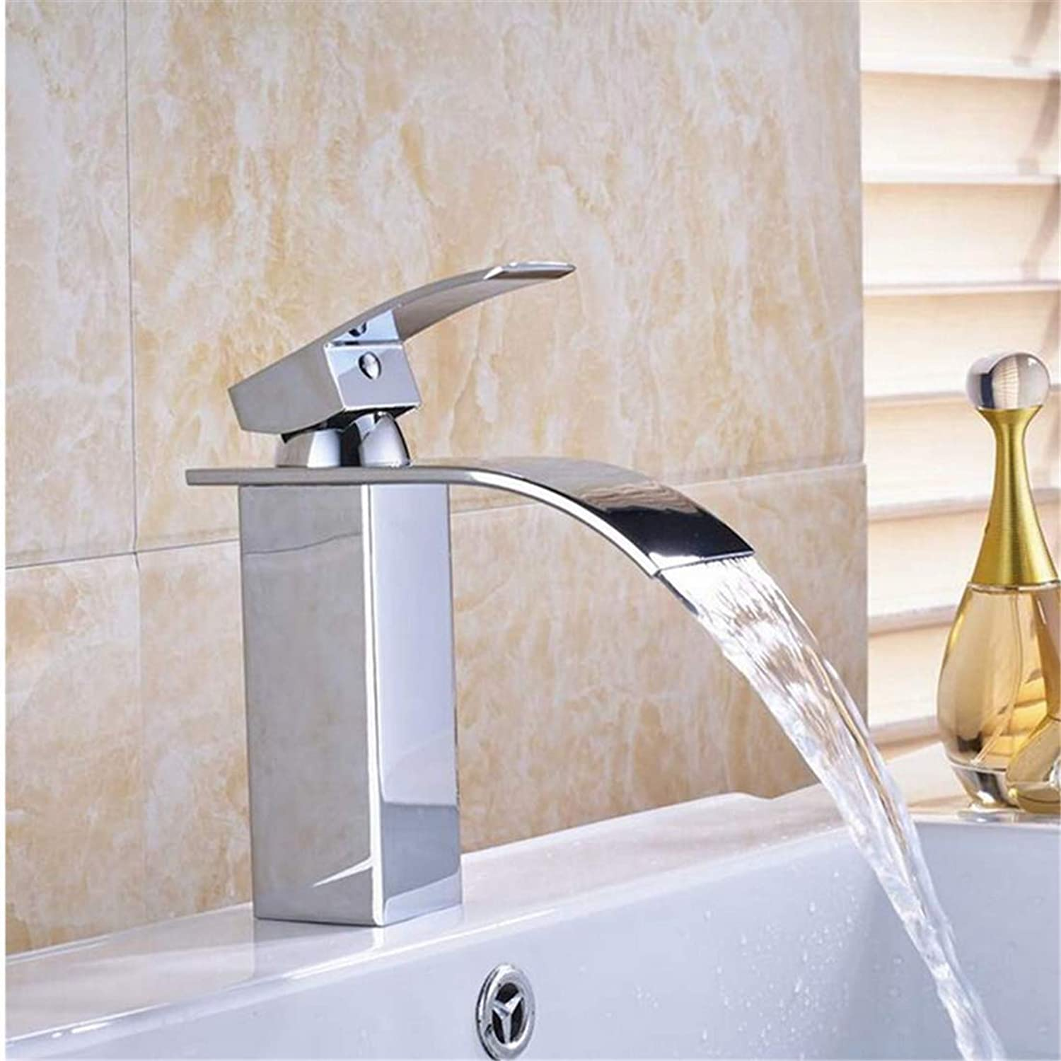 Retro Faucetwaterfall Spout Faucet Single Lever Countertop Vessel Sink Tap