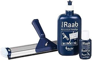 Ha-Ra Lot de 3 Accessoires de Nettoyage Soin Complet + rollfix (Vide) + raclette à vitre 32 cm de Large