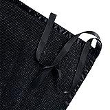 Shatex Shade Panel Block 90% of UV Rays with Ready-tie up Ribbon for Pergola Gazebo Porch, Black