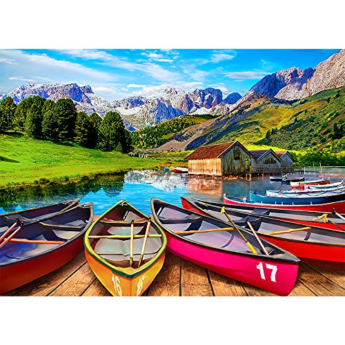 HUADADA 1000 Teile Puzzle | Italy Alpine Lake | 1000 Klassische Puzzles Colourful Puzzle Game (70 * 50cm)