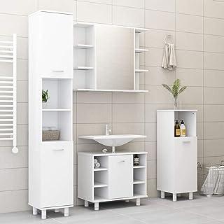 con doppia anta per casa 98 x 43,9 x 80 cm Armadietto autoportante da pavimento Ausla soggiorno bagno